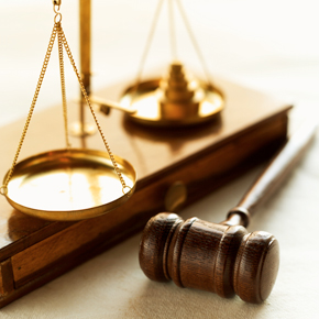 Photo: Scales and Gavel legal symbols