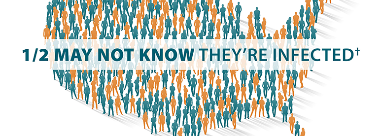 The graphic shows nearly 2.4 million Americans are living with hepatitis C and half may not even know they're infected