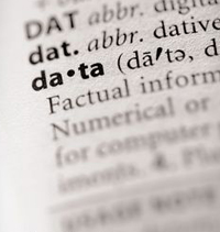 Entry of the word data from the dictionary