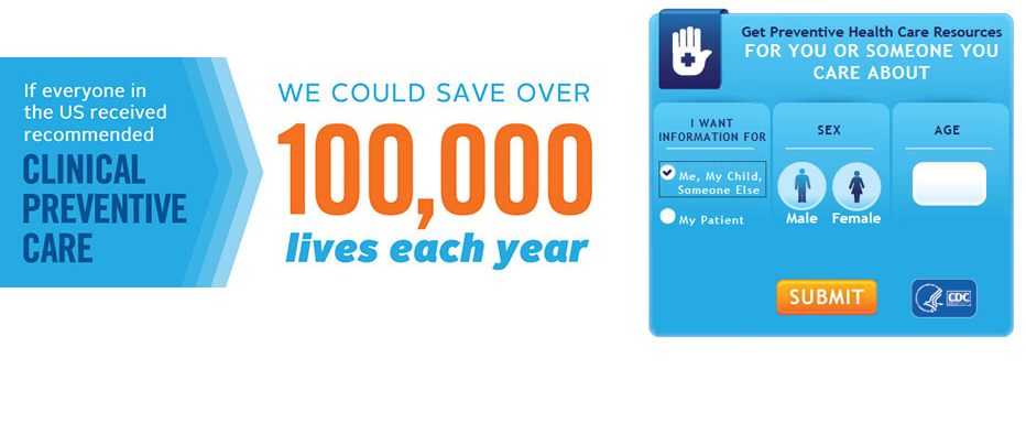 This graphic states that if everyone in the US received recommended clinical preventive care, we could save over 100,000 lives each year
