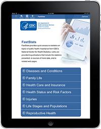 FastStats iPad App screenshot