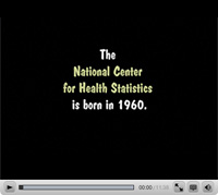 More Than Just Numbers screen capture - The National Center for Health Statistics is born in 1960