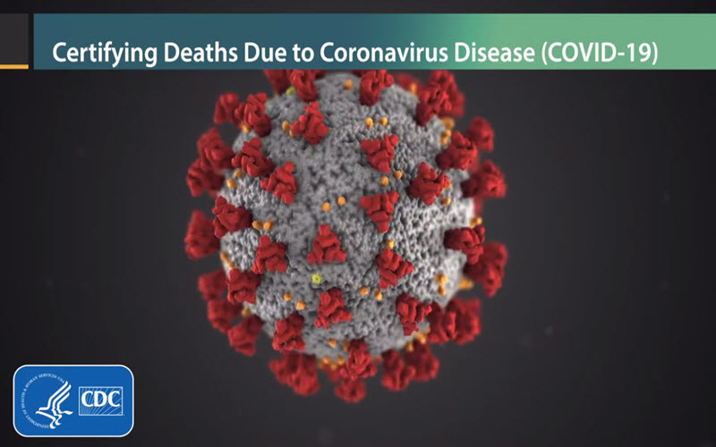 Video thumbnail, Certifying Deaths Due to Coronavirus Disease (COVID-19)