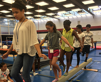 Campers record beam time at UMD gym