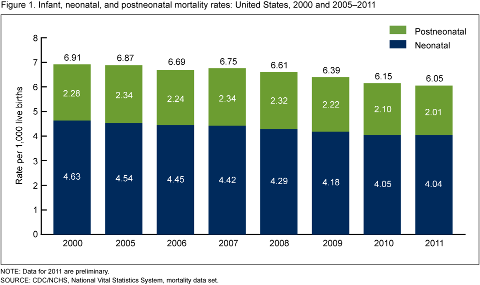Products Data Briefs April - Infant mortality map us