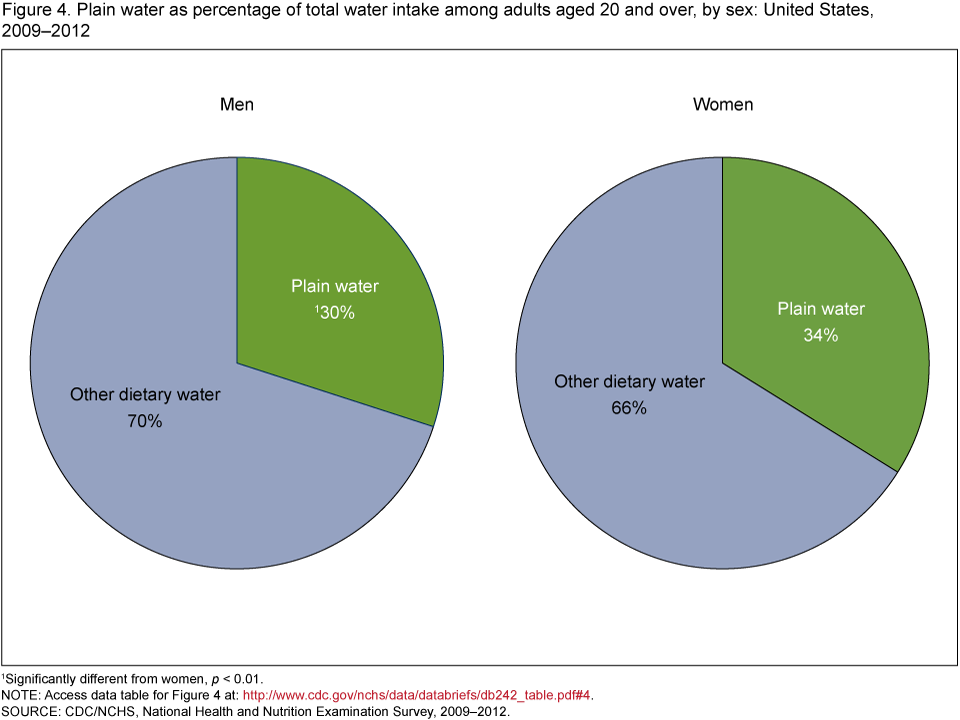 what percentage of the average diet is water