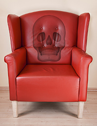 chair with skull