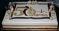 cake with NHANES 50th logo