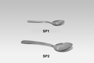Two household spoons