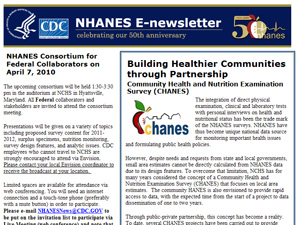 NHANES E Newsletter April 2010