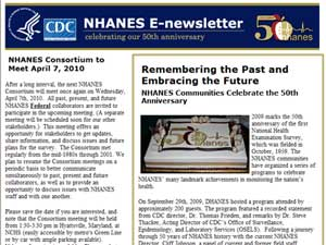 NHANES E Newsletter January 2010