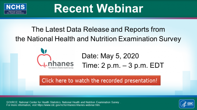 Watch the NHANES Presentation on the Latest Data Releases and Reports