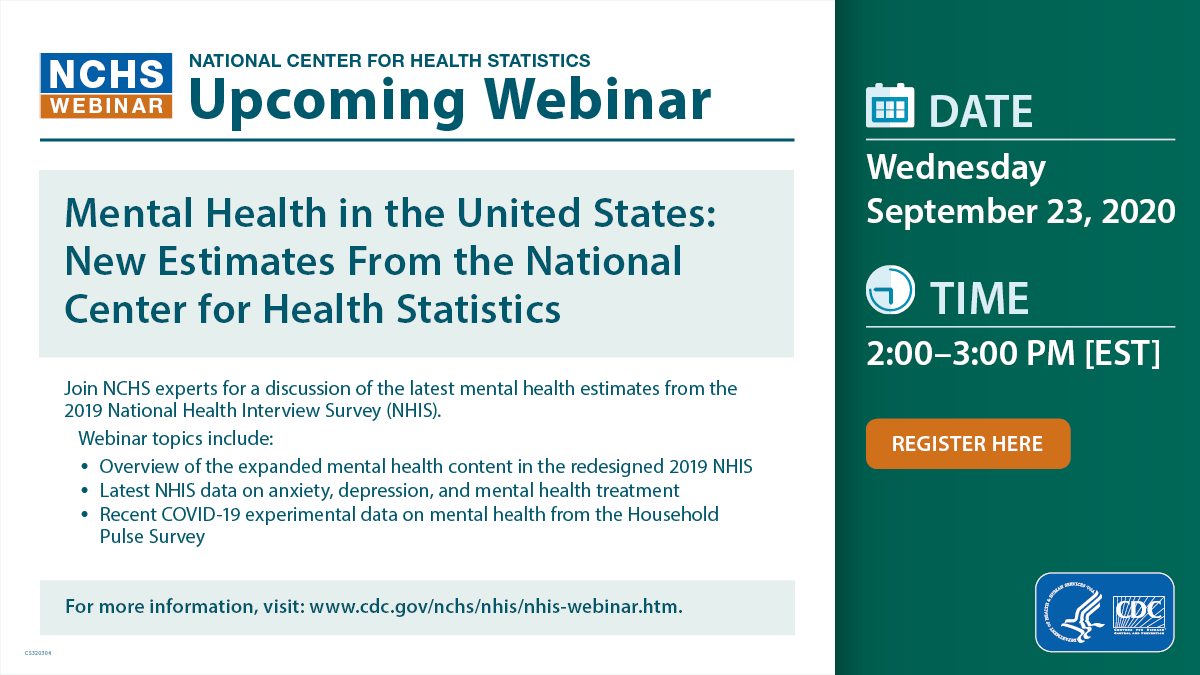 Mental Health in the United States: New Estimates From the National Center for Health Statistics