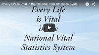 video screenshot, every life is vital in the national vital statistics sytem