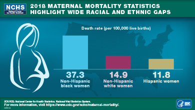 Image showing the racial disparities of maternal mortality