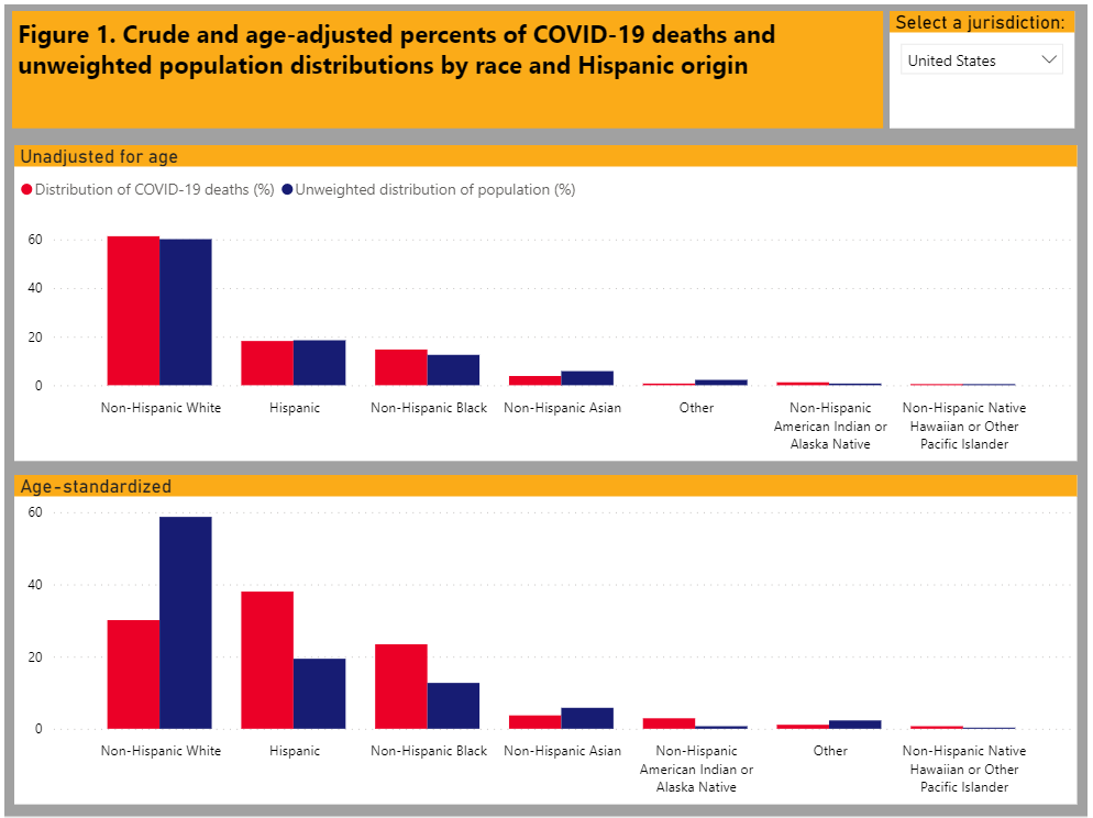 COVID-19 Health Disparities Static Image and Link