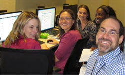 photo of group participating in live chat