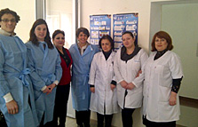 Group photo at the Azerbaijan MOH bacteriology laboratory