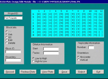 Figure 7. Dialog window for Module 2 - Template Design.