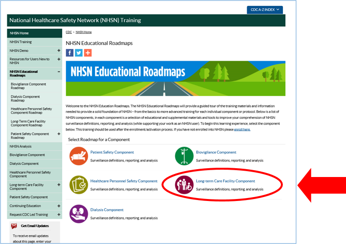 nhsn educational roadmap home page