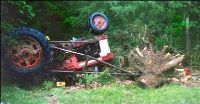 Mechanic Dies When Tractor Overturns While Removing Tree