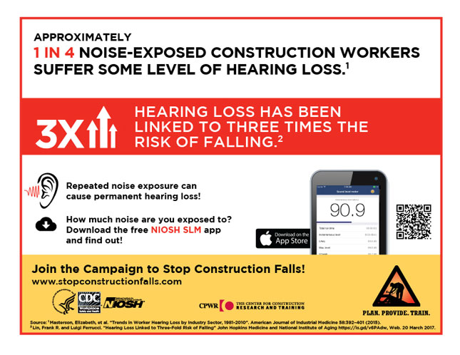 APPROXIMATELY 1 IN 4 NOISE-EXPOSED CONSTRUCTION WORKERS SUFFER SOME LEVEL OF HEARING LOSS.