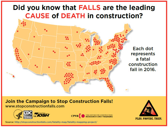 Infographic - Did you know that FALLS are the leading CAUSE of DEATH in construction?