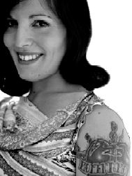 image of woman with a tatto on her upper arm