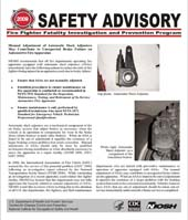 Safety Advisory October 13, 2009