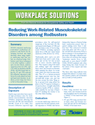 cover page for Reducing Work-Related Musculoskeletal Disorders among Rodbusters