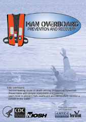 Cover of NIOSH training DVD Man Overboard: Prevention and Recovery