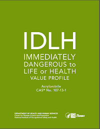 Cover shot of Immediately Dangerous to Life or Health Value Profile for acrylonitrile