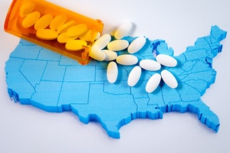 pills spread on the usa