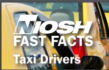 NIOSH Fast Facts coversheet with a yellow taxi