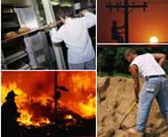 workers in hot environments
