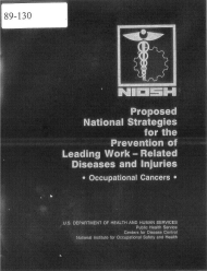 Title page of NIOSH Publication Number 89-130