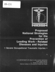 Title page of NIOSH Publication Number 89-131