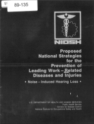Title page of NIOSH Publication Number 89-135