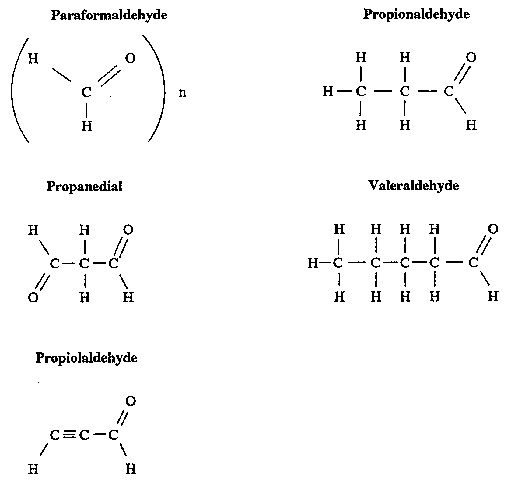 Structures for Acetaldehyde, Molonaldehyde, and Nine Related Low-Molecular-Weight Aldehydes.