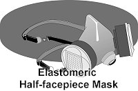elastomeric half-facepiece mask