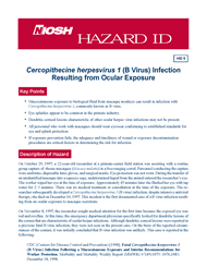 cover page - Hazard ID 5-Cercopithecine herpesvirus 1 (B Virus) Infection Resulting from Ocular Exposure