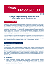 cover page - Hazard ID 6-Exposure to Mercury Vapor During the Use of Mercury Carburetor Synchronizers
