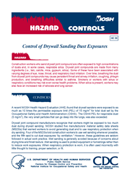 CDC - NIOSH Publications and Products - Control of Drywall