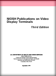 cover page - NIOSH Publications on Video Display Terminals - Third Edition