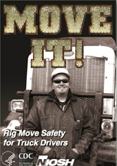 Cover of NIOSH training DVD Move IT! Rig Move Safety for Truckers