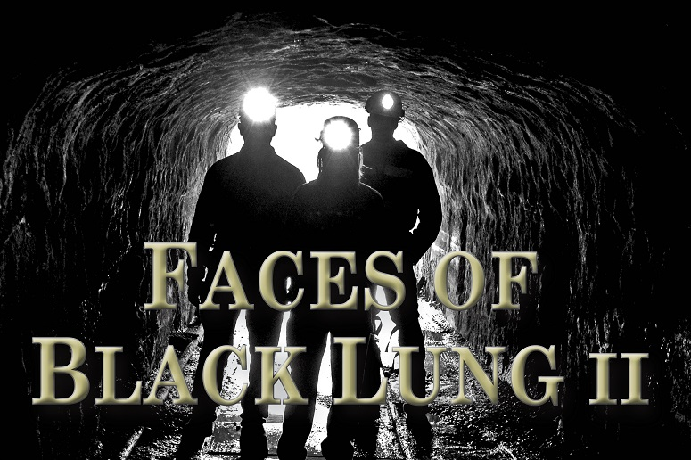 Miners with text faces of black lung 2