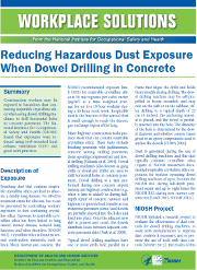 Workplace Solution: Reducing Hazardous Dust Exposure When Dowel Drilling Concrete