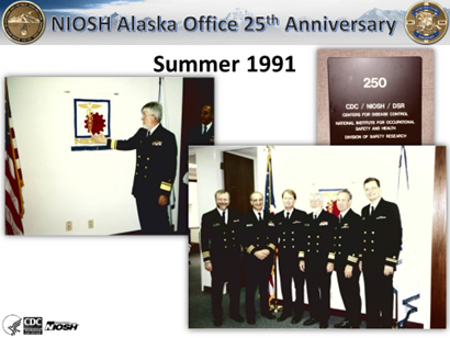 NIOSH Alaska Field Station collage of images from 1991