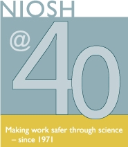 Logo for NIOSH @ 40 years