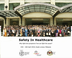 Attendees from the Safety in Health Care Conference in Malaysia